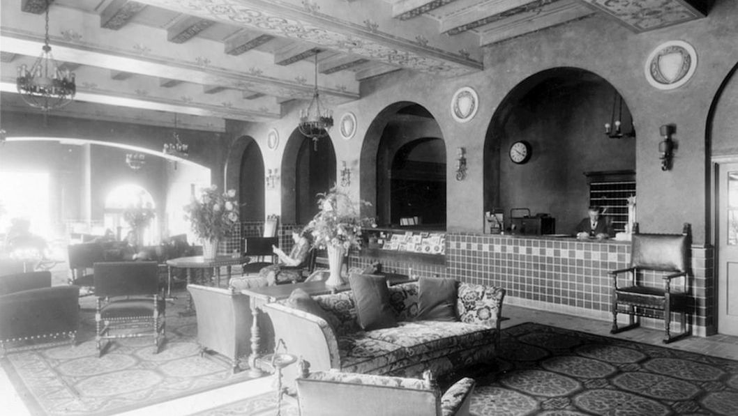 Hassayampa Inn Interior in the 1920's